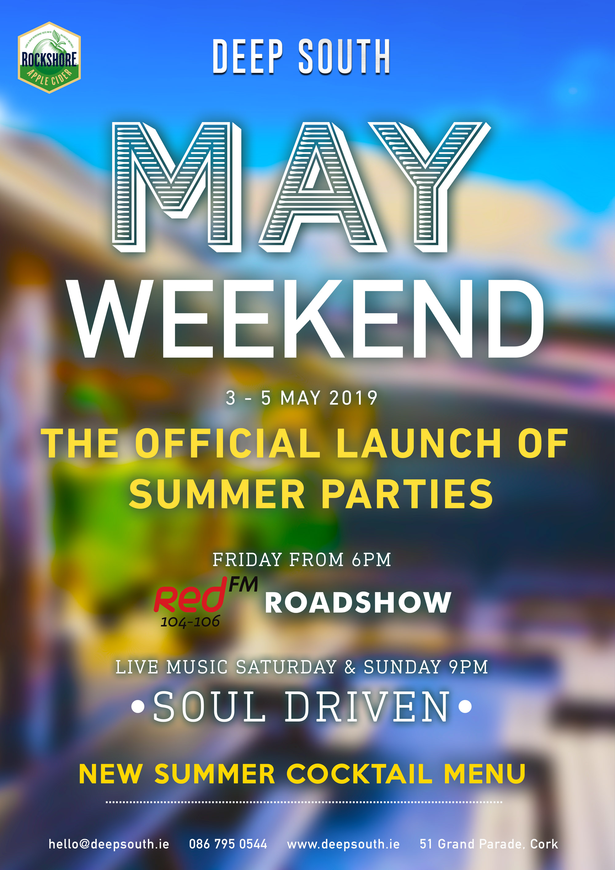 May weekend - launch of summer parties